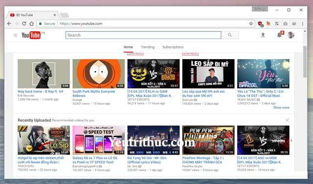 Cách kích hoạt tính năng Dark Mode trên Youtube nền Web 2