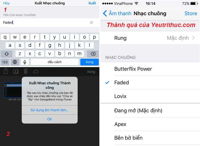Cách sử dụng GarageBand và Documents cài nhạc chuông cho iPhone miễn phí 7
