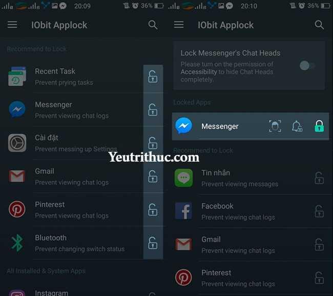 Cách sử dụng IObit Applock - mở khóa khuôn mặt lên smartphone Android 3