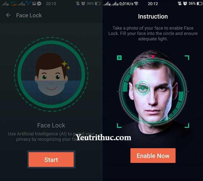 Cách sử dụng IObit Applock - mở khóa khuôn mặt lên smartphone Android 4