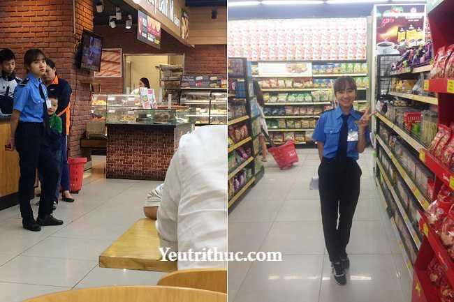 Hotgirl Hà Pansy – nữ bảo vệ siêu thị Lotte Hà Nội gây sốt vì bị chụp lén 13