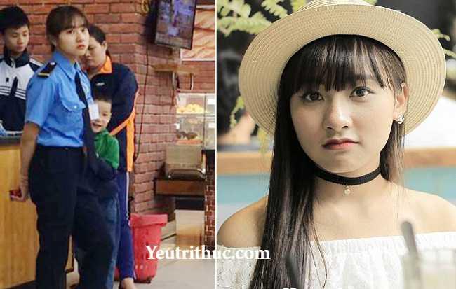 Hotgirl Hà Pansy – nữ bảo vệ siêu thị Lotte Hà Nội gây sốt vì bị chụp lén 14