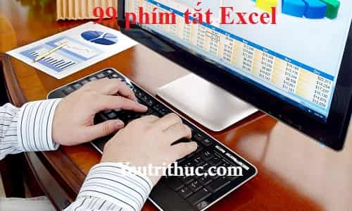 99 phím tắt Excel - các (những) phím tắt trong Excel thông dụng nhất 1