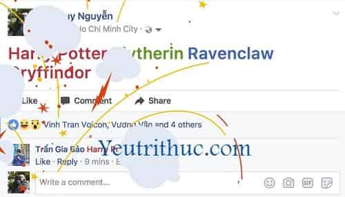 Cách tạo hiệu ứng bắn pháo hoa đũa thần Harry Potter trên Facebook 2