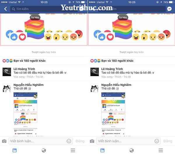 """Cách Thả Cờ trên Facebook - biểu tượng LBGT """"Tự Hào"""" màu sắc cầu vồng 3"""