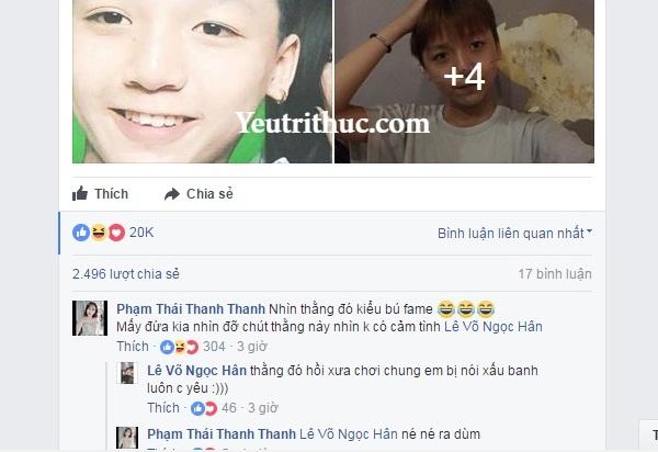 """Lê Võ Ngọc Hân chửi Long Bi là """"thằng cancer"""", chuyên đi nói xấu 2"""