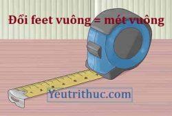 1 feet vuông bằng bao nhiêu mét vuông, đổi square feet = m2