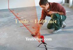 1 mile bằng bao nhiêu km, mét và mm, đổi 1 dặm ra km (1 miles = km)