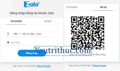 Cách đăng nhập Zalo trên web, vào Zalo trên trình duyệt web