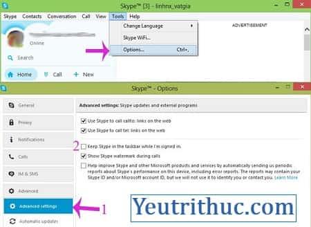 Cách đăng xuất Skype trên máy tính, tắt và thoát Skype trên Windows 2