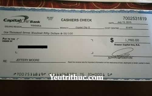 Cashier's Check là gì – tìm hiểu khái niệm Cashier Check ngân hàng