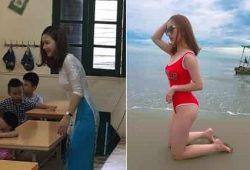 Cô giáo Bùi Thúy Ngân Tiểu học Tân Định gây sốt Facebook