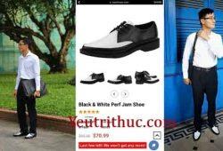 Đôi giày trắng đen Cao Toàn Mỹ đi là chiếc Black – White Jam Shoes