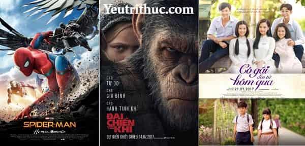 Lịch phim chiếu rạp tháng 7 năm 2017 những phim hay nhất ra rạp