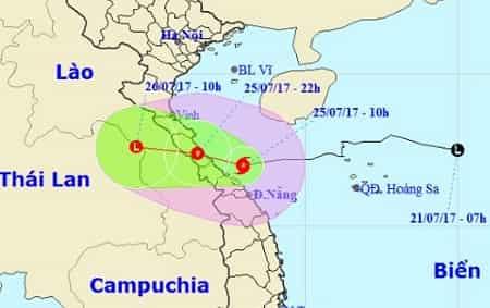 Tin bão số 4 mới nhất năm 2017 1