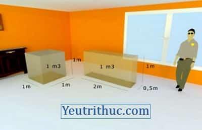 1m3 bằng bao nhiêu lít, cm3 và dm3, cách quy đổi 1 mét khối ra lít nước