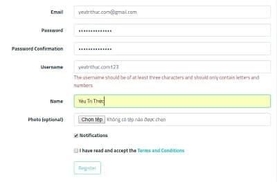 Cách đăng ký tạo tài khoản Sarahah trên Android, iOS và nền web 4