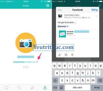 Cách đăng ký tạo tài khoản Sarahah trên Android, iOS và nền web 7