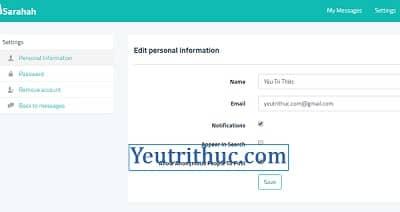 Hướng dẫn cách sử dụng Sarahah để gửi tin nhắn ẩn danh trên iOS, Android, Web 4