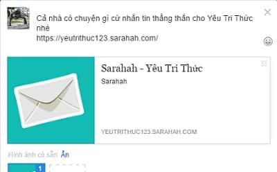 Hướng dẫn cách sử dụng Sarahah để gửi tin nhắn ẩn danh trên iOS, Android, Web 6