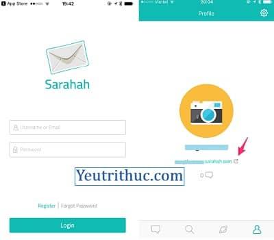 Cách đăng nhập vào Sarahah để đọc, xem, chia sẻ tin nhắn Sarahah 4