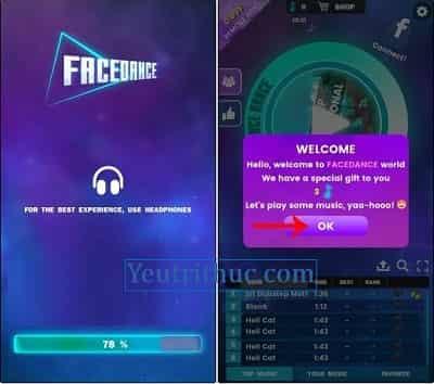 Hướng dẫn sử dụng và cách chơi tựa game FaceDance Challenge 2