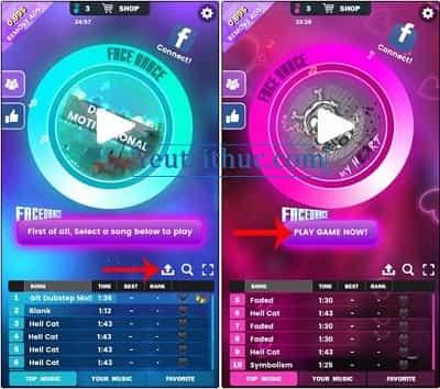 Hướng dẫn sử dụng và cách chơi tựa game FaceDance Challenge 3