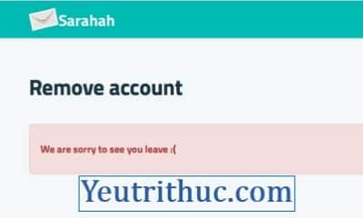 Hướng dẫn cách delete, xóa tài khoản Sarahah loại bỏ hoàn toàn 5