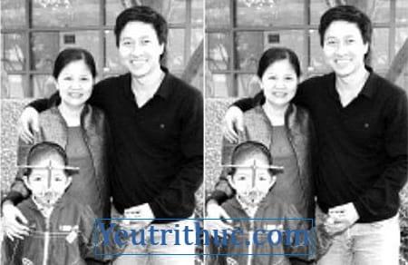 Hình ảnh vợ Quốc Tuấn và Con trai Diễn viên Quốc Tuấn bị bệnh gì 1