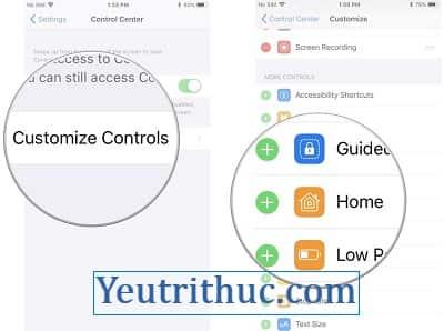 Hướng dẫn Cách sử dụng và tùy chỉnh Control Center trên iOS 11 3