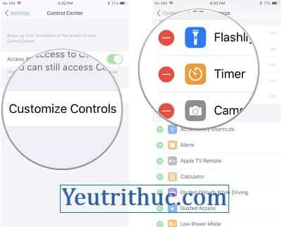 Hướng dẫn Cách sử dụng và tùy chỉnh Control Center trên iOS 11 4