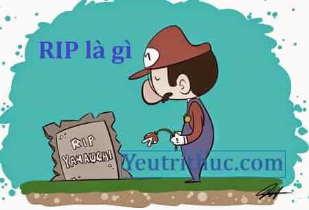 RIP là gì , ý nghĩa của từ viết tắt RIP gì trên Facebook đầy đủ nhất 1