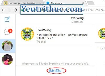 Cách chơi Game EverWing trên Facebook Messenger 2