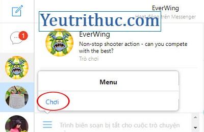 Cách chơi Game EverWing trên Facebook Messenger 3