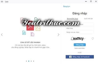 Hướng dẫn cách đăng nhập Zalo bằng Facebook 1