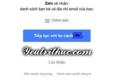 Hướng dẫn cách đăng nhập Zalo bằng Facebook 3