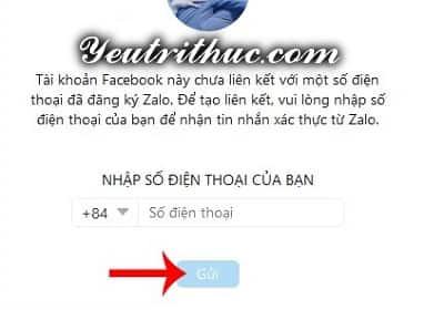 Hướng dẫn cách đăng nhập Zalo bằng Facebook 4