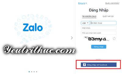 Hướng dẫn cách đăng nhập Zalo bằng Facebook 9