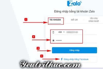 Hướng dẫn Cách đăng nhập Zalo trực tuyến Online nhanh nhất
