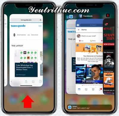 Cách tắt, đóng ứng dụng trên iPhone X khi không còn phím Home 2