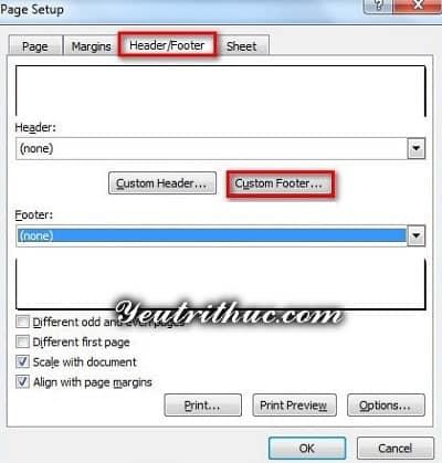 Cách đánh số trang trong Excel 6