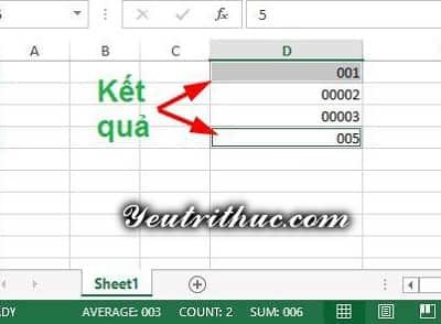 Cách viết số 0 ở đầu trong Excel 9