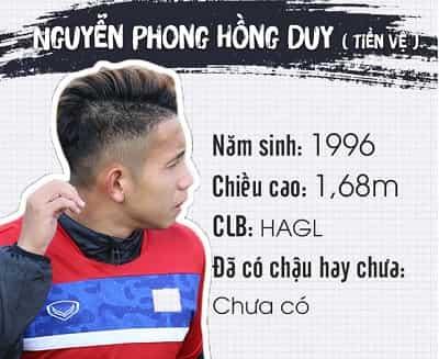 Profile, địa chỉ Facebook và Danh sách tên cầu thủ U23 Việt Nam 7