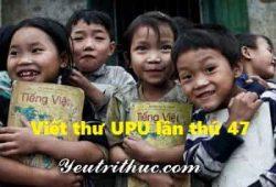 Viết thư UPU lần thứ 47 năm 2018