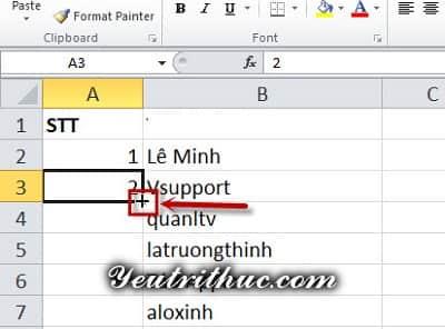 Cách đánh số thứ tự trong Excel 3