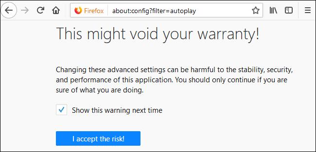 Cách vô hiệu hóa, tắt tính năng tự động phát Video trên Firefox 2