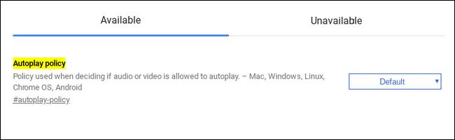 tắt tính năng web tự động phát video trên Chrome 2