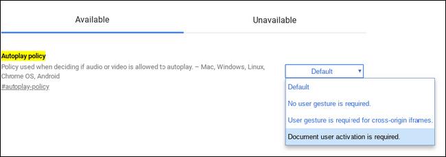 tắt tính năng web tự động phát video trên Chrome 3