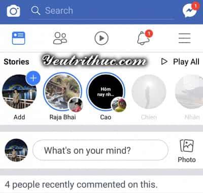 Cách chuyển đổi ngôn ngữ ứng dụng Facebook sang tiếng Việt 1