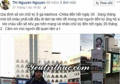 Facebook bố bé Nhật Linh là Nguyễn Thị Nguyên và Lê Anh Đào